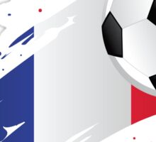 French Soccer Flag Sticker