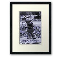 Minnie Happy Birthday (Blue) Framed Print