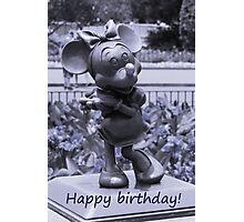 Minnie Happy Birthday (Blue) Photographic Print