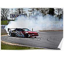Nissan Skyline R33 GTR Drifting Poster