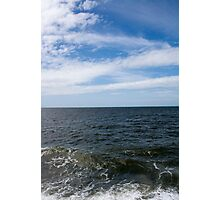 Ocean With Blue Sky and Clouds Photographic Print