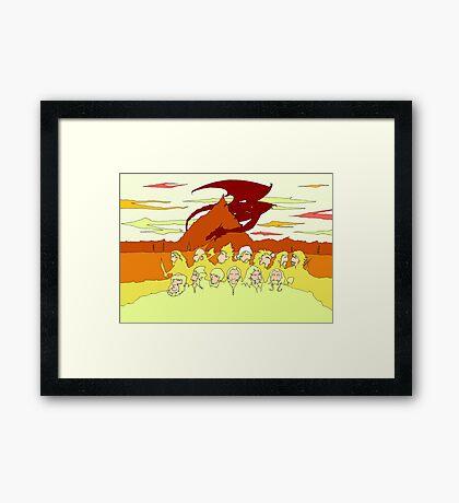 The Desolation of Smaug Framed Print