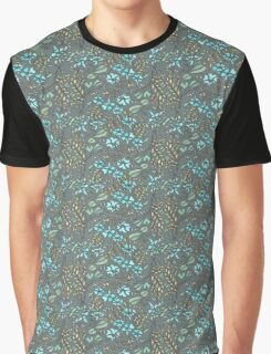 Blue Flowers Graphic T-Shirt