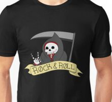 Rock and Roll Grim Unisex T-Shirt