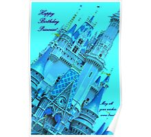 Cinderella's Castle - Happy Birthday Princess! Poster