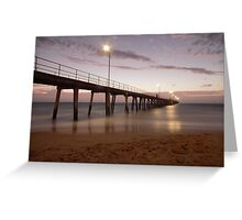 Port Noarlunga sunset Greeting Card