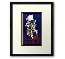 Uncle Sam Tattooist  Framed Print