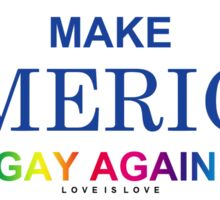 MAKE AMERICA GAY AGAIN! Sticker