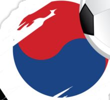 Korean Soccer Flag Sticker