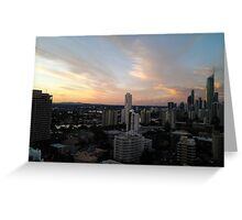 Gold Coast Highrise Sunset Greeting Card