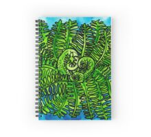 wild watercolor fern Spiral Notebook