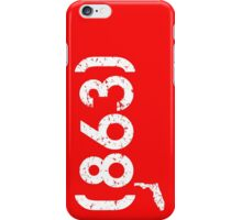 Area Code 863 Florida iPhone Case/Skin