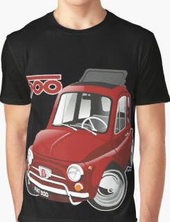 Fiat 500 caricature red Graphic T-Shirt