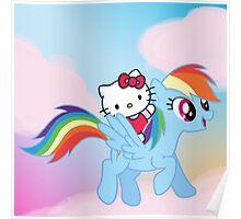 Hello Kitty & Rainbow Dash! Poster