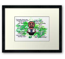 Agent Derek Morgan Framed Print