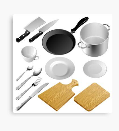 Kitchen tools Canvas Print