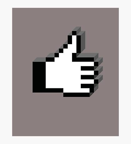 8 Bit Pixel Thumbs Up! Photographic Print