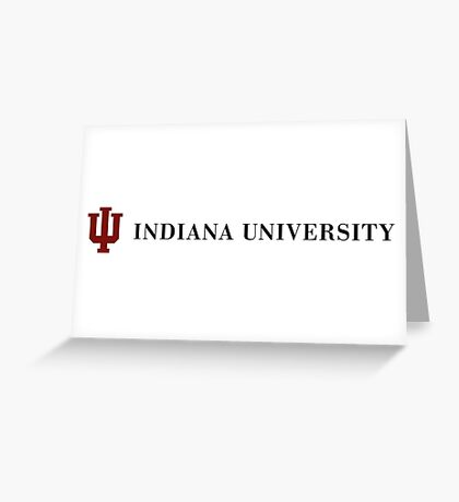 IU Indiana University Greeting Card