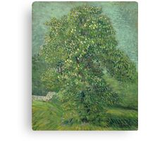Vincent Van Gogh - Horse Chestnut Tree In Blossom. Forest view: forest , trees,  fauna, nature, birds, animals, flora, flowers, plants, field, weekend Canvas Print