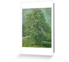 Vincent Van Gogh - Horse Chestnut Tree In Blossom. Forest view: forest , trees,  fauna, nature, birds, animals, flora, flowers, plants, field, weekend Greeting Card