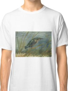 Vincent Van Gogh - Kingfisher By The Waterside. Bird painting: cute fowl, fly, wings, lucky, pets, wild life, animal, birds, little small, bird, nature Classic T-Shirt