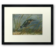 Vincent Van Gogh - Kingfisher By The Waterside. Bird painting: cute fowl, fly, wings, lucky, pets, wild life, animal, birds, little small, bird, nature Framed Print