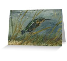 Vincent Van Gogh - Kingfisher By The Waterside. Bird painting: cute fowl, fly, wings, lucky, pets, wild life, animal, birds, little small, bird, nature Greeting Card