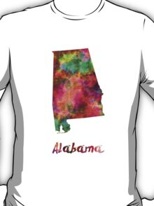 Alabama US state in watercolor T-Shirt