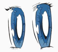 Blue Anime Eyes One Piece - Long Sleeve
