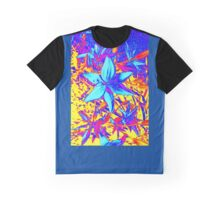 Blue Flame Lily Graphic T-Shirt