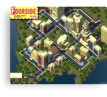 EarthBound Fourside Map Canvas Print