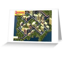 EarthBound Fourside Map Greeting Card