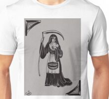 Original Sharpie Drawing of Woman Nurse with Scythe Unisex T-Shirt