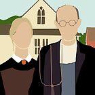 Pitchfork Couple in Front of Farmhouse by EucalyptusBear
