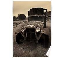 Old Chevrolet Truck I Toned Poster