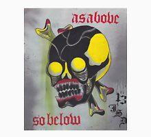 Original Watercolor Painting of Skull As Above So Below Unisex T-Shirt