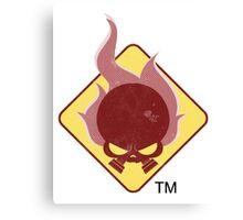Fire Hazard Entertainment Logo Canvas Print
