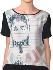 Can You Hear Ice-Scream in Space? Chiffon Top