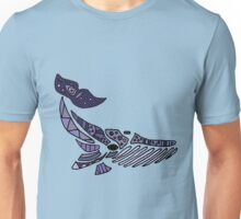 Funny and Artistic Blue Whale Abstract Artwork Unisex T-Shirt