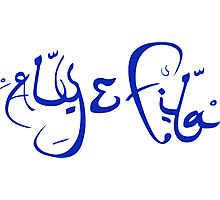 Aly & Fila blue Photographic Print