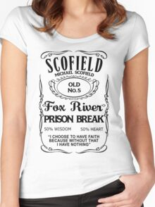 Michael Scofield - White Version Women's Fitted Scoop T-Shirt