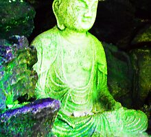 Buddha of Compassion at Morris Arboretum 1 by Kevin J Cooper