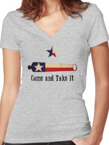 Come and Take it - Texas Flag Women's Fitted V-Neck T-Shirt
