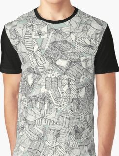pencil parcels silver mint Graphic T-Shirt