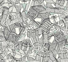 pencil parcels silver mint by Sharon Turner