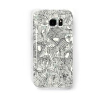 pencil parcels silver mint Samsung Galaxy Case/Skin