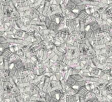 pencil parcels pink by Sharon Turner