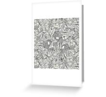 pencil parcels ivory Greeting Card