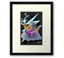Zeus the Rock God of Lightning Framed Print