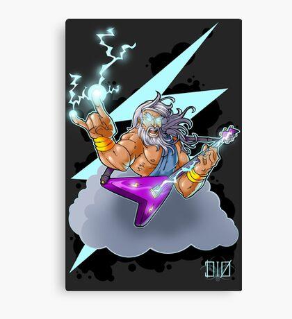 Zeus the Rock God of Lightning Canvas Print